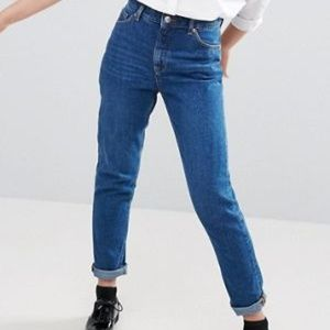 ASOS Womens 29R High Waisted Mom ankle jeans